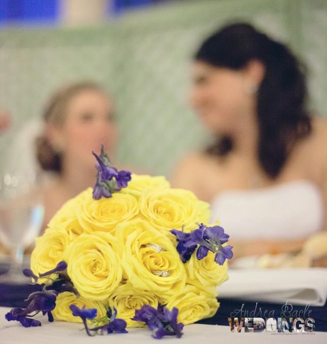 galveston wedding yellow flowers3
