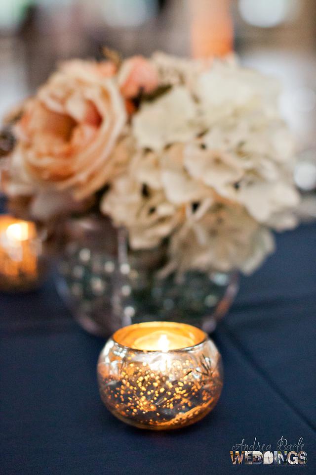 weddings blog tea light candle detail mercury glass
