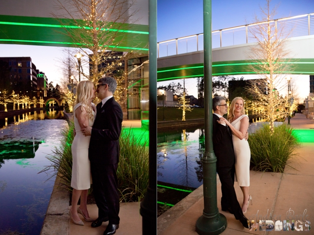 nice day for a woodlands waterway night wedding